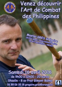 Stage Arnis Kali – avril 2016 – Toulouse
