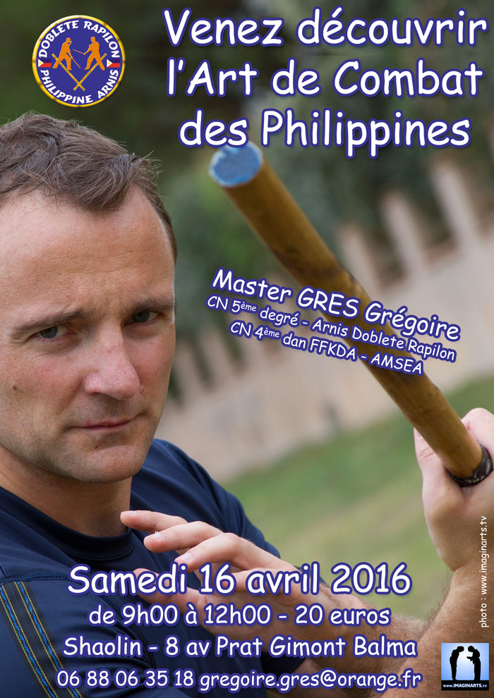 stage arnis kali avril 2016 toulouse