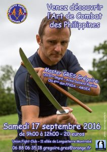 Stage Arnis Kali – septembre 2016 – Toulouse