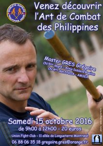 Stage Arnis Kali – octobre 2016 – Toulouse
